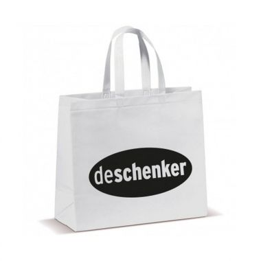 Witte Shopper groot | Non woven | Gelamineerd