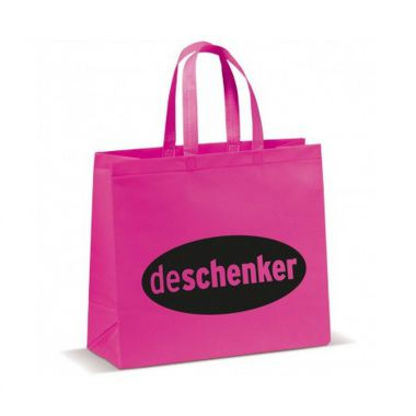 Roze Shopper groot | Non woven | Gelamineerd