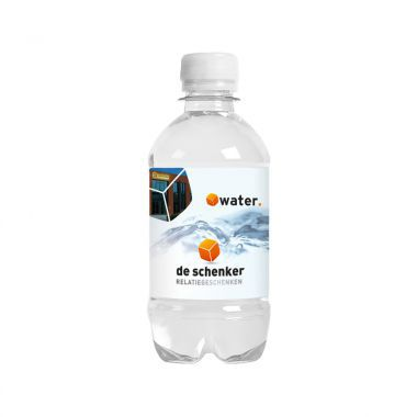 Transparante Waterflesjes bedrukken | 330 ml | Platte dop