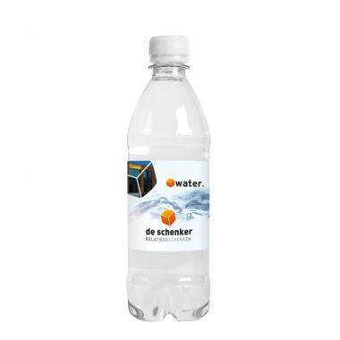 Transparante Waterflesjes bedrukken | 500 ml | Platte dop