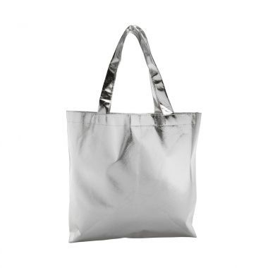 Zilvere Metallic tas | Non woven | Gelamineerd | 80 grams
