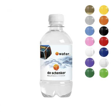 Waterflesjes bedrukken | 330 ml | Platte dop